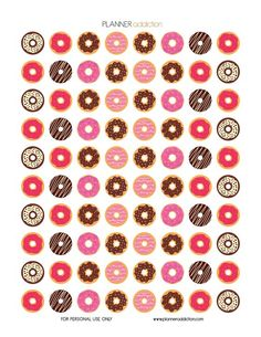 FREE Printable Planner Stickers - Donuts by Planner Addiction:
