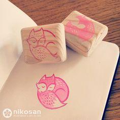 fox stamp by nikosan.artwork, via Flickr