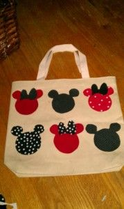 No sew Mickey and MInnie Tote Bag