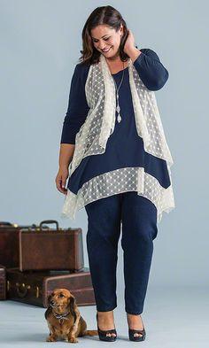York Tunic with Vest Set / MiB Plus Size Fashion for Women / Spring Fashion  http://www.makingitbig.com/product/5105