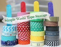 Craft stick washi tape holders and Washi Projects - www.joyslife.com