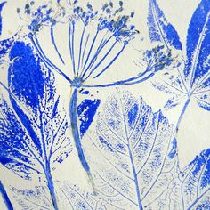 Mangle Prints: Leaf Printing: gorgeous leaf prints - must try doing it this way.