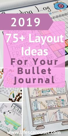 Over 75 Bujo Page Ideas! Stuck for what to put in your bujo? This MASSIVE list of Bullet Journal page ideas for spreads, trackers, and more!