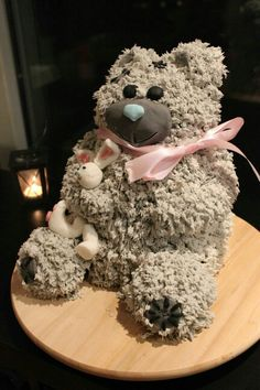 Teddy cake by elina