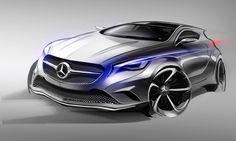 Designskizze des Mercedes-Benz Concept A-Class aus der Reportage: 'Die Designphilosophie von Mercedes-Benz: Design als Markenzeichen'