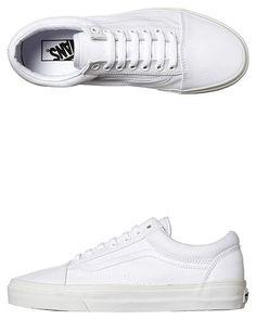 detailed look 1792e 6a3c7 Plain White Vans  Old School  Size US 10 Mens Sneakers 2017, Vans Sneakers