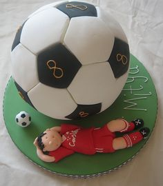 Soccer birthday cake. Also my number!                                  8