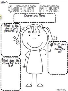 Character Profile. Comes in both boy and girl pages...Great for second and third grades!