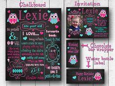 1st birthday chalkboard / Chalkboard Birthday by Littlestinkersart, $60.00