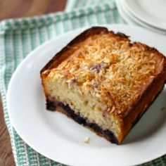 Enjoy some Eggless Blueberry Bread for breakfast today.
