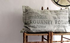 Write me a letter.on a pillow. Large French Bolster Pillow by owlsongvintage Bolster Pillow, Throw Pillows, Constantino, Back To School Sales, Cool Items, Happy New Year, Upcycle, Artsy, Industrial
