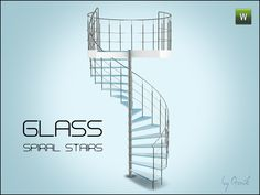 Glass spiral stairs by Gosik - Sims 3 Downloads CC Caboodle