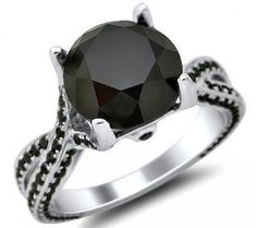 Black Diamond Ring OMG I want this to be my engagement ring!!!!!!!!