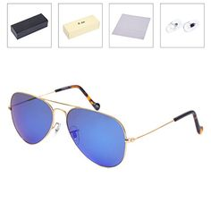 54edfd42a67 OLet Aviator Sunglasses for Men Women Driving Fishing Golf Handmade  Stainless Steel Frame with UV400 Glass Lens     Want additional info