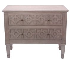 Providence 2 Drawer Chest | Crestview Collection | Home Gallery Stores