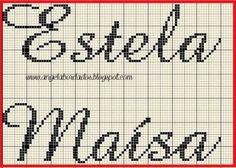 Resultado de imagem para nome maysa e jordana em ponto cruz
