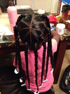 Awe Inspiring Little Girls Kinky Twists And Twists On Pinterest Short Hairstyles Gunalazisus