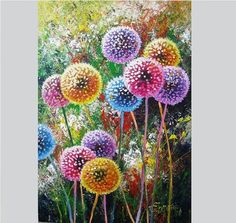 This is an original acrylic painting on canvas. NOT PRINT. The painting is ready to ship. Free shipping (will be delivered UNSTRETCHED rolled in a protected tube). Suitable as: painting on canvas decor gift, living room wall art, dandelion flower decor art. Size27.6x19.7inces (70x50