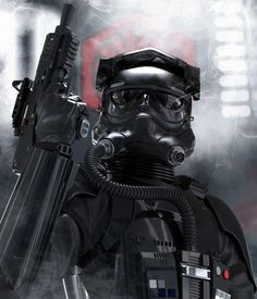 ArtStation - Star Wars fan art - First Order Tie Pilot , Aaron Deleon