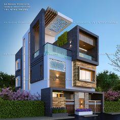 House Outer Design, Best Modern House Design, House Front Design, Modern Bungalow Exterior, Modern Exterior House Designs, 2 Storey House Design, Bungalow House Design, House Elevation, Building Elevation