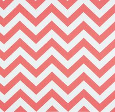 *Clearance fabrics are available while supplies last and are final sale.* A graphic coral chevron fabric contrasted with white. Coral Fabric, Chevron Fabric, Fabric Rug, Retro Fabric, Pillow Fabric, Fabric Wallpaper, Coral Chevron, Coral Art, Coral Pink