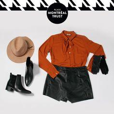 #PMTLook  La #jupeshort de chez #VEROMODA est l'élément clef pour réussir votre #look. The #skort from VERO MODA is the key item to the #success of your look. #Fashion #PlaceMtlTrust #Mode Shopping #OOTD
