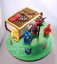 Lego Nexo Knight cake with monsterbook