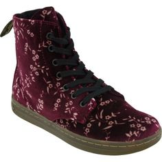 Dr Martens Hackney Eye Casual Boots Womens Purple Fabric - ONLY $80.00