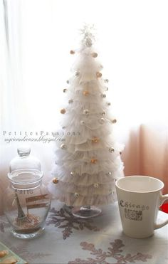 DIY Tree made out of dryer sheets or tulle