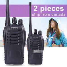 2pcs Baofeng Walkie Talkie BF-888S 5W UHF 400-470MHZ Handheld Portable CB Ham Radio walkie talkie Set communication equipment