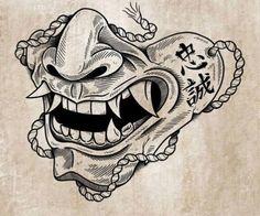 Oni Tattoo, Samurai Tattoo, Hanya Mask Tattoo, Japanese Tattoo Designs, Japanese Tattoo Art, Best Sleeve Tattoos, Body Art Tattoos, Tattoo Sketches, Tattoo Drawings