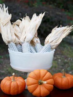 Silver Sprayed Corn for Fall
