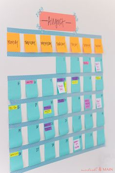Swapping out stickies is a breeze when you need to completely rearrange your week. Get the tutorial at Modish & Main »  - GoodHousekeeping.com