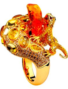 Fire Opal Ring by Forever Jewels