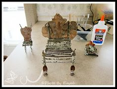 Fairy Furniture! Gotta have furniture in the garden for the fairies.