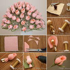 Wonderful Chocolate and Crepe Paper Flower Bouquet  - http://www.amazinginteriordesign.com/wonderful-chocolate-crepe-paper-flower-bouquet/