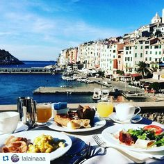 Summer Memories #Repost @lalainaaa  Breakfast with a view at @ghportovenere . Definitely the best place to stay in Portovenere. #portovenere #liguria #golfodeipoeti #gulfofpoets #colors #sealife #ligurianriviera #view #sea
