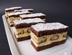 Hartyányi krémes Hungarian Desserts, Hungarian Recipes, My Recipes, Sweet Recipes, Cookie Recipes, Polish Desserts, Cake Bars, Cake Cookies, The Best