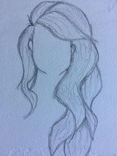 Drawing 5 Drawing 5 – Station Of Colored Hairs Pencil Drawings Of Girls, Pencil Drawing Tutorials, Girl Drawing Sketches, Art Drawings Sketches Simple, Beautiful Drawings, Cute Drawings, Drawing Drawing, Basic Drawing, Girl Hair Drawing
