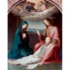 The Death of Joseph by Johann Friedrich Overbeck (1789-1869) Canvas Art - Johann Friedrich Overbeck (18 x 24)