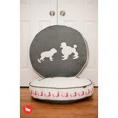 Found it at AllModern - Cosmopolitan Heels and Boots Round Dog Bed in Steel Grey / White