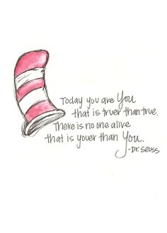 Wise Words from A Cartoon Cat in a Hat.  #DrSeuss #Quotes