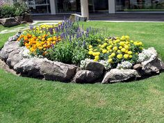 Flower Bed with Rock Contour