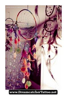 Hippie Dreamcatcher Tattoo 22 - http://dreamcatchertattoo.net/hippie-dreamcatcher-tattoo-22/