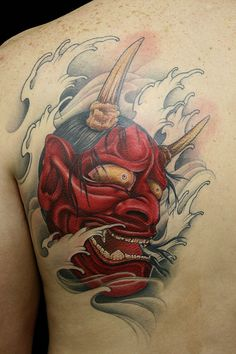 "Finished ""Oni"" By Horikatsu of Wild Monkey Tattoo, Hiroshima - Imgur"