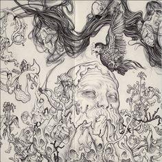 Philosopher by James Jean. Ballpoint pen