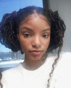 Black Girls Hairstyles, Cute Hairstyles, Hair Inspo, Hair Inspiration, Chloe Halle, Curly Hair Styles, Natural Hair Styles, Dreadlock Hairstyles, Braided Hairstyles