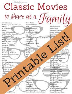 111 Classic Movies to Share as a Family (Printable List!) - TriciaGoyer.com