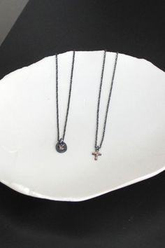 Noël Fashion Bijoux Cadeau Noir Onxy Saphir Or Blanc P Collier Pendentif Chai