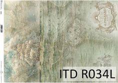 Papier ryżowy ITD R034L Stare mapy podróżników